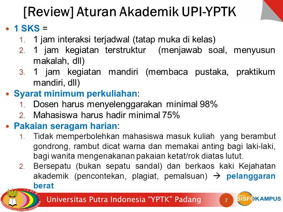 [Review] Aturan Akademik UPI-YPTK